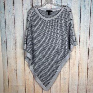 White House Black Market Poncho Sweater